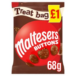 Maltesers Buttons Chocolate Price Marked Treat Bag 68g