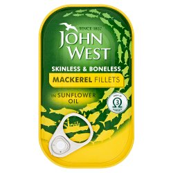 John West Mackerel Fillets in Sunflower Oil 125g