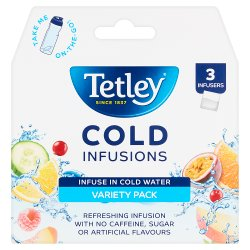 Tetley 3 Cold Infusions Clip Strip Envelope Variety Pack 6.75g