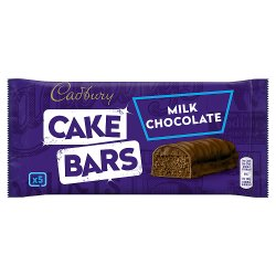 Cadbury Milk Chocolate Cake Bars x 5