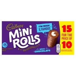 Cadbury 15 Mini Rolls Milk Chocolate