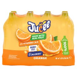 Jucee No Added Sugar Orange 8 x 1.5 Ltr