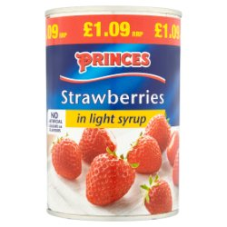 Princes Strawberries in Light Syrup 420g