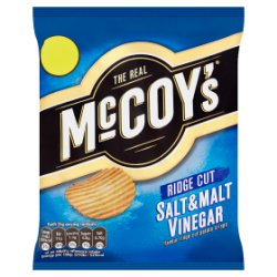 The Real McCoy's Ridge Cut Salt & Malt Vinegar Flavour Ridge Cut Potato Crisps 70g