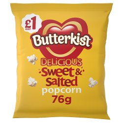 Butterkist Delicious Sweet & Salted Popcorn 76g