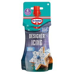 Dr. Oetker Blue Designer Piping Icing & Nozzles 140g