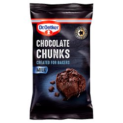 Dr. Oetker Milk Chocolate Chunks 100g