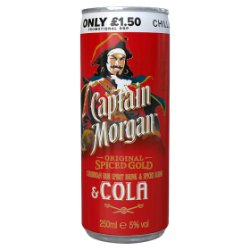 Captain Morgan Original Spiced Gold and Cola 250ml