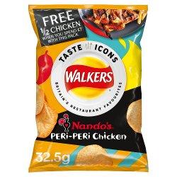 Walkers Nando's Peri-Peri Chicken Flavour Crisps 32.5g