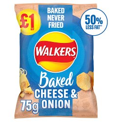 Walkers Oven Baked Cheese & Onion Snacks £1 RRP PMP 75g