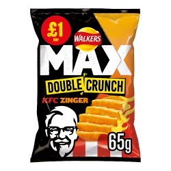 Walkers Max Double Crunch KFC Zinger Crisps £1 RRP PMP 65g