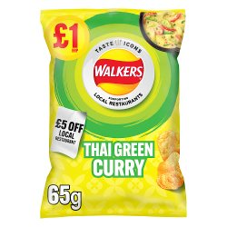 Walkers Thai Green Curry Flavour Crisps £1 RRP PMP 65g