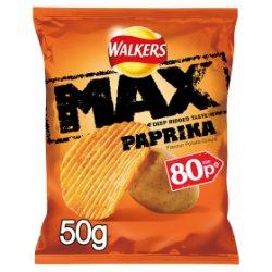 Walkers Max Paprika Crisps PMP 50g