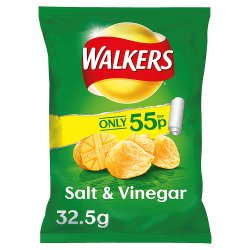 Walkers Crisps Salt & Vinegar 55p