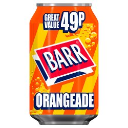Barr Orangeade 330ml Can, PMP 49p
