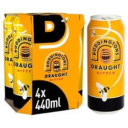 Boddingtons Draught Bitter Beer Cans 4 x 440ml