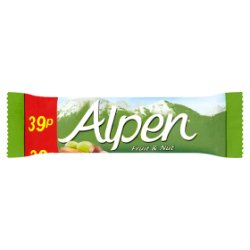 Alpen Bar Fruit & Nut 24 x 28g Pricemarked 39p