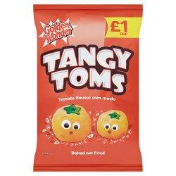 Golden Wonder Tangy Toms Tomato Flavour Corn Snacks 90g