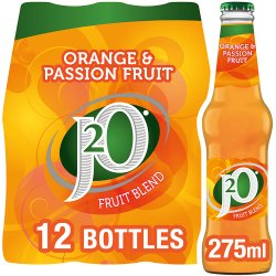J2O Fruit Blend Orange and Passion Fruit 12 x 275ml