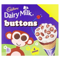 Cadbury Dairy Milk Buttons 4 x 100ml (400ml)
