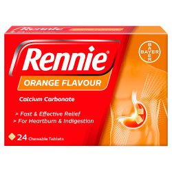 Rennie Orange Flavour 24 Tablets