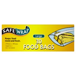 SafeWrap 30 Food Bags Large 254mm x 381mm