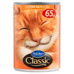 Butcher's Classic Chicken Chunks in Jelly Cat Food Tins 400g