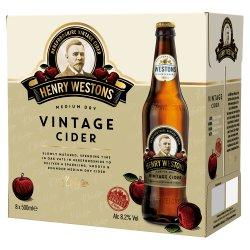 Henry Westons Oak Aged Vintage Cider 8 x 500ml