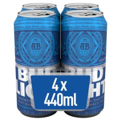 Bud Light Lager Beer Cans 4 x 440ml