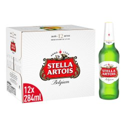 Stella Artois Belgium Premium Lager 12 x 284ml