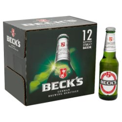 Beck's German Pilsner Beer Bottles 12 x 275ml