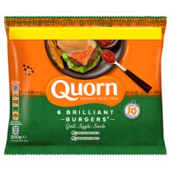 Quorn 6 Meat Free Burgers 300g