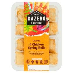 Gazebo Cuisine 4 Chicken Spring Rolls 200g