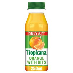 Tropicana Original Orange Juice with Bits £1 RRP PMP 250ml