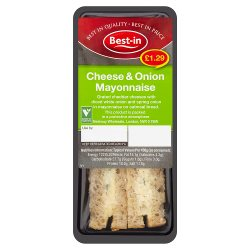 Best-in Cheese & Onion Mayonnaise Sandwich