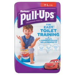 Huggies Pull Ups Day Time Potty Training Pants Boys Size Large (16-23kg, 35-50lbs) 14 Pants