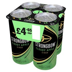 Strongbow Cloudy Apple Cider 4 x 440ml Can