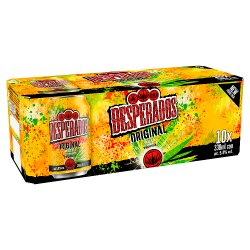 Desperados Tequila Lager Beer 10 x 330ml Cans