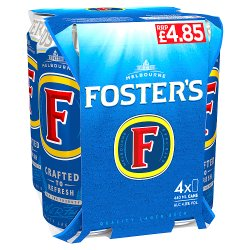 Foster's Lager Beer 4 x 440ml Can