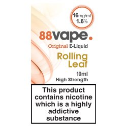 88Vape E-Liquid 16mg Rolling Leaf 10ml
