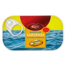 Best-in Moroccan Sardines in Sunflower Oil 120g