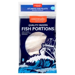 Essentially Catering Atlantic Cod Fillets Skinless & Boneless 2.27Kg