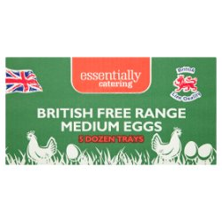 Essentially Catering British Free Range Medium Eggs 5 Dozen Trays