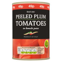 Best-One Peeled Plum Tomatoes in Tomato Juice 400g