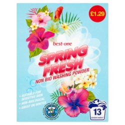 Best-One Spring Fresh Non Bio Washing Powder 884g
