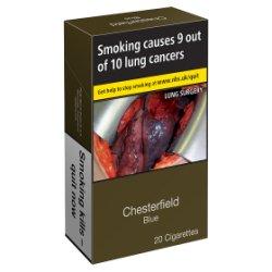 Chesterfield 20 Cigarettes Blue