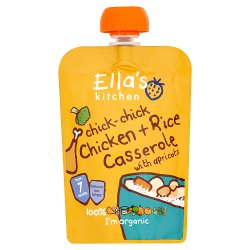 Ella's Kitchen Organic Chicken + Rice Casserole with Apricots Pouch 7+ Months 130g