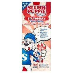 Slush Puppie The Original Strawberry Flavour Slushy 3 x 250ml
