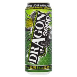 Dragon Soop Caffeinated Alcoholic Beverage Sour Apple 500ml