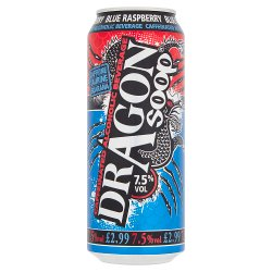 Dragon Soop Blue Raspberry Caffeinated Alcoholic Beverage 500ml